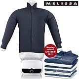 MELISSA 16390055 Bügelpuppe, Blusentrockner,Bügelsystem,Hemd und Blusen Bügler,weiß, 1200 Watt Power,Easy Bedienung, Kunststoff