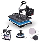 VEVOR 5 in 1 Transferpresse 38x30cm Heißpresse Maschine T-Shirt Presse Maschine Hitzepresse Maschine DIY Heat Press mit Digitaler LED-Temperatur- und Zeitcontroller (5 in 1)