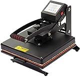 Display4top Transferpresse Tassenpresse Textilpresse T-Shirt Transferpresse Sublimationsmaschine, Einsatz für Industrie, Gewerbe und Haushalt (37.5cm x 37.5cm)