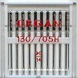 ORGAN DOMESTIC SEWING MACHINE NEEDLES SIZE 90/14, WILL FIT, BROTHER, SINGER , JANOME, ETC by Organ / Sewing Supplies Direct