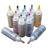 Tulip Tie-Dye Kit 12 Farbe teilig Tie-Dye-Kit, Stoff Textil Farben Tie Dye Kit mit 40 Stück Gummi Band und Tischtuch, für DIY-Projekte und Partyaktivitäten (12 pcs)