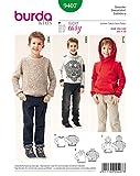 Burda 9407 Schnittmuster Sweater (kids, Gr. 104 - 140) Level 1 super easy