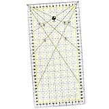 OfficeTree Schneiderlineal - 30x15 cm - Patchworklineal Lineal zum Nähen mit exakten Abmessungen und Zuschnitten