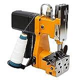 HUKOER Tragbare Nähmaschine 220V Elektrische Industrie Verpackungsmaschine für Schlangenhaut Beutel Plastiktüte Papiertüte Sack, Gelb