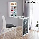InnovaGoods Tisch, Holz, weiß, 80x50x18 cm