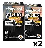 Simplicol Farberneuerung Back-to-Black, Schwarz, 2er Pack: Farbauffrischung und -Erneuerung in der Waschmaschine, Hautfreundlich, All-in-1 DIY Färbemischung mit Textilfarbe für Stoffe
