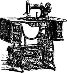 Alte nähmaschine Jahr 1807 erfunden.